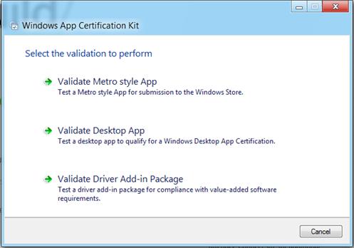 Windows App Certification Kit Walk Through – Web Surfaces